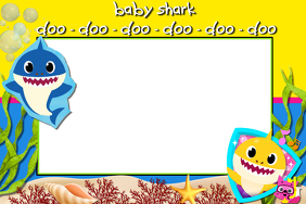 baby shark birthday invitation card