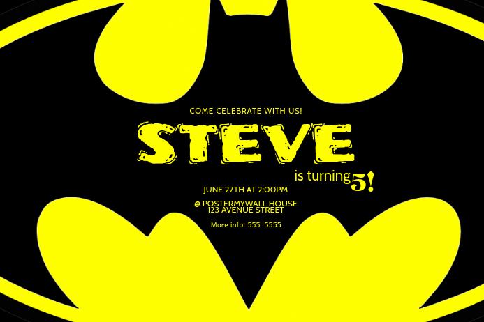 copy of batman birthday party