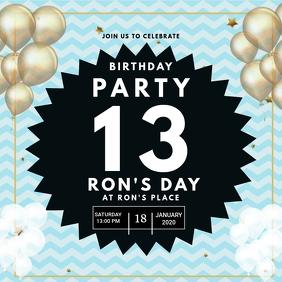 13 geburtstagsfeier einladung fur