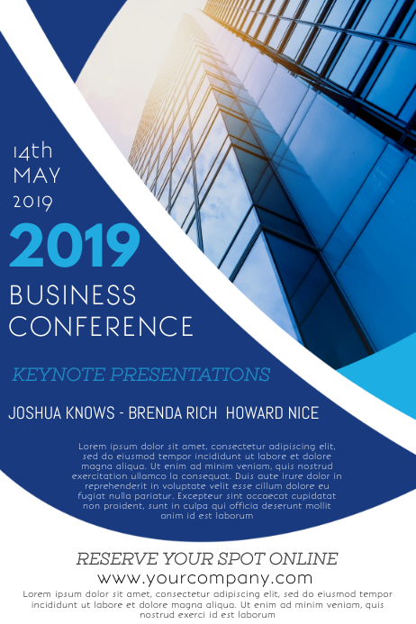 Business Conference Event Flyer Template Postermywall