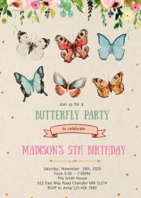 11 060 butterfly birthday invitation