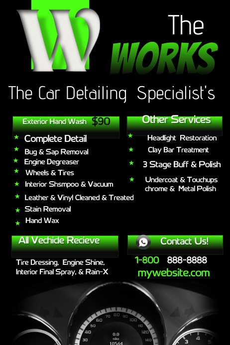 Car Detailing Template PosterMyWall