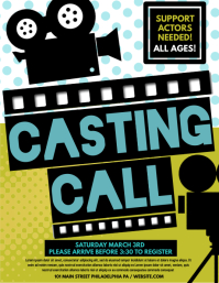 120 Casting Call Customizable Design Templates Postermywall