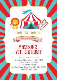 circus party customizable design