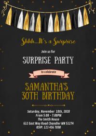 16th birthday invitation customizable