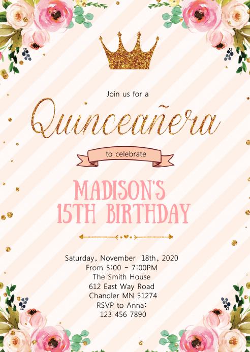 crown princess 15th birthday party