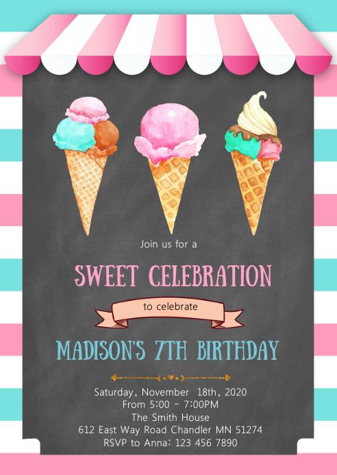 cute ice cream birthday party
