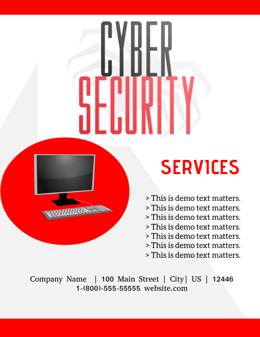 Cyber Security Template Postermywall