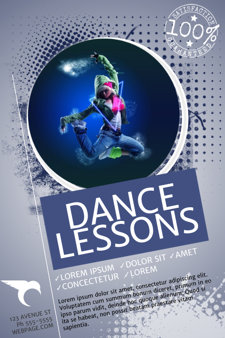 Dance Lessons Flyer Template PosterMyWall