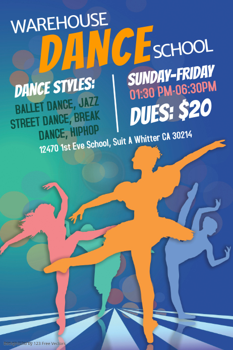 Customize 740 Dance And Ballet Poster Templates