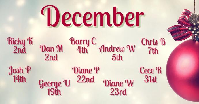 December Birthdays Template Postermywall