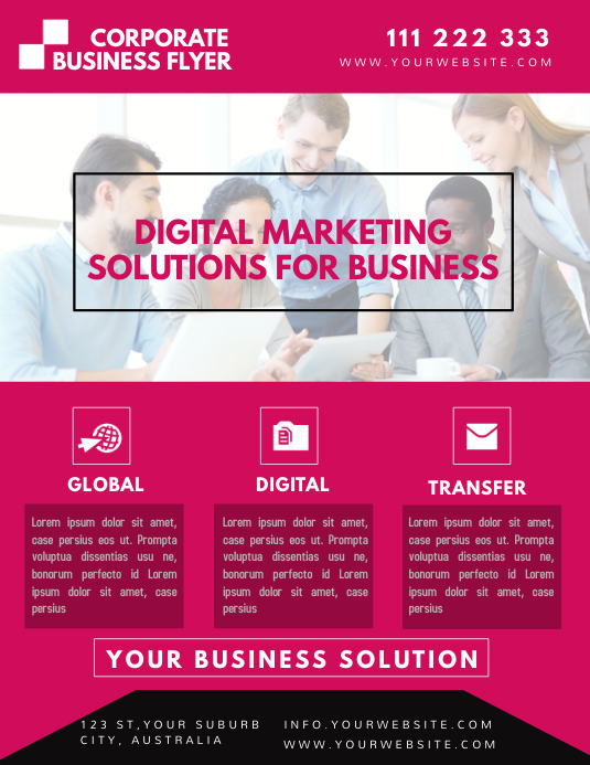 Digital Marketing Flyer Template Postermywall