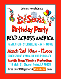 dr seuss birthday party invitation