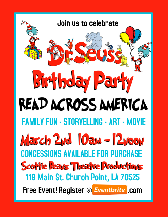 Dr Seuss Birthday Party Invitation Template Postermywall