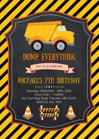 construction birthday customizable