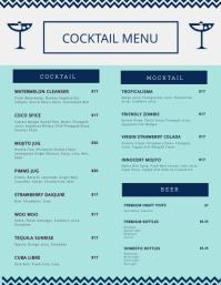 Customize Free Cocktail Menu Templates Postermywall