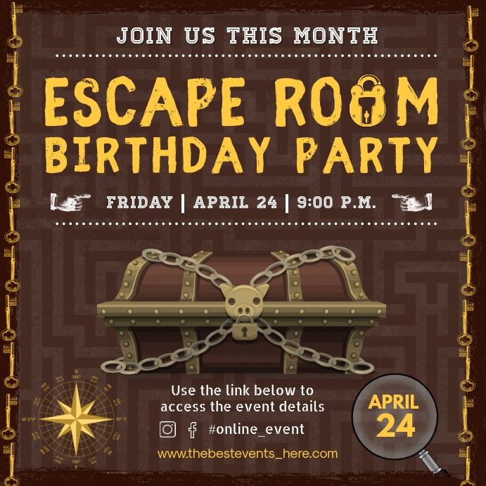 escape room themed birthday party