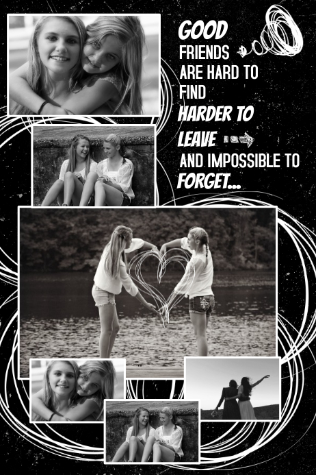 Customize 480 Friends Collage Templates PosterMyWall