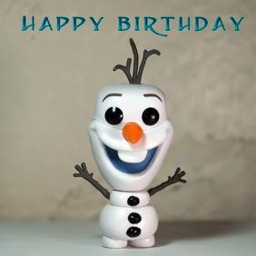 Frozen Happy Birthday Vorlage Postermywall