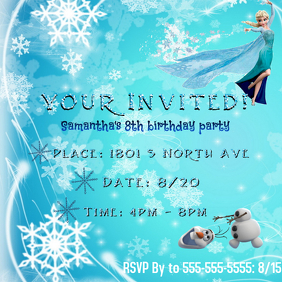 4960 Customizable Design Templates For Frozen Birthday