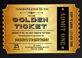 850 movie ticket customizable design