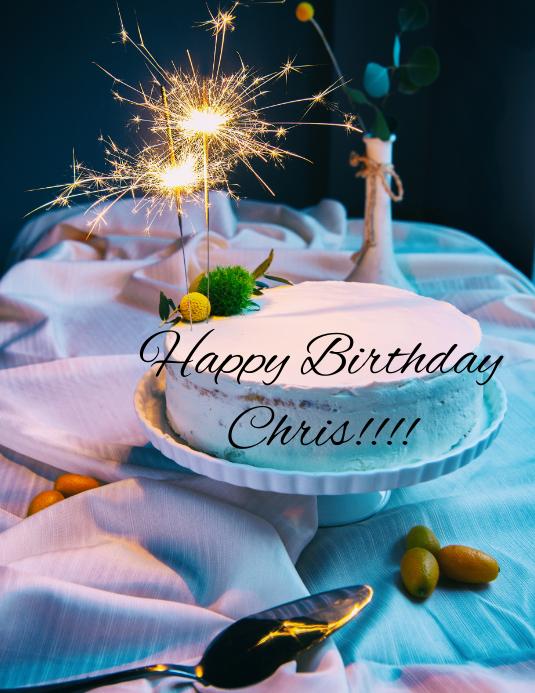 Alles Gute Zum Geburtstag Chris Vorlage Postermywall