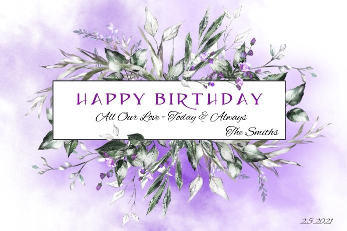 Gute Zum Geburtstag Blumen Vorlage Postermywall