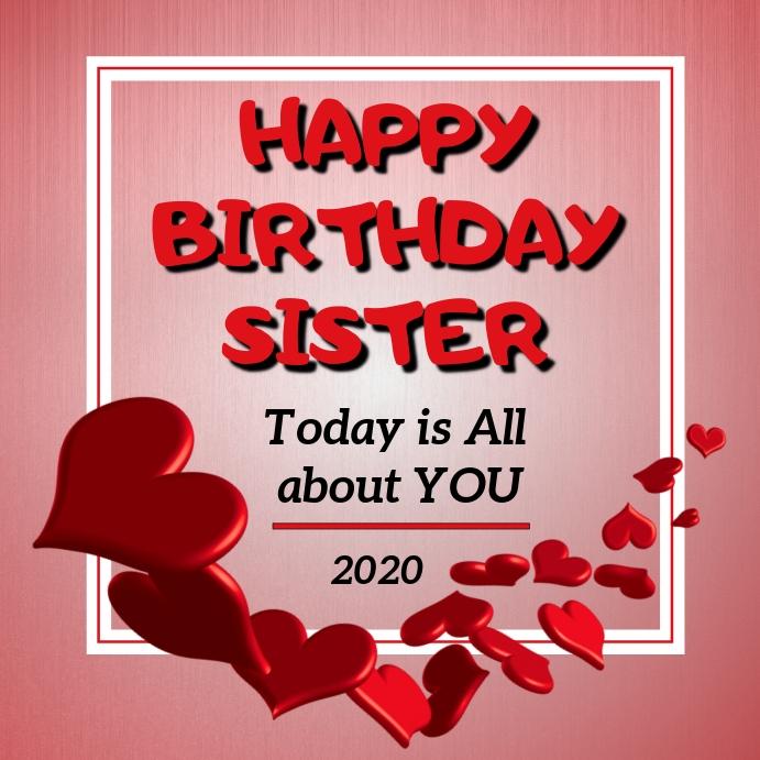Alles Gute Zum Geburtstag Schwester Vorlage Postermywall