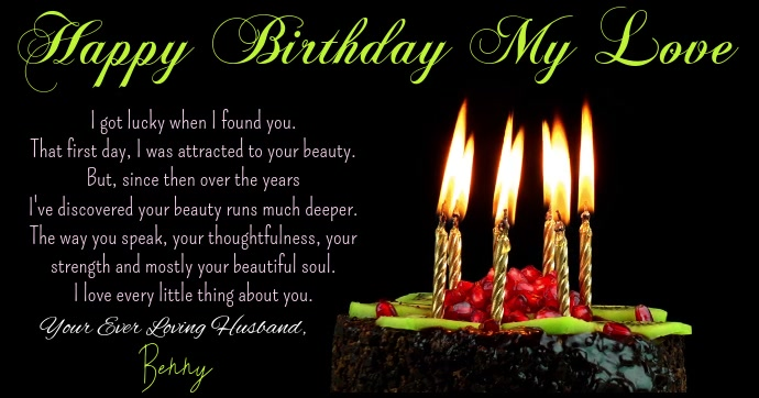 Happy Birthday Video For Facebook Template Postermywall
