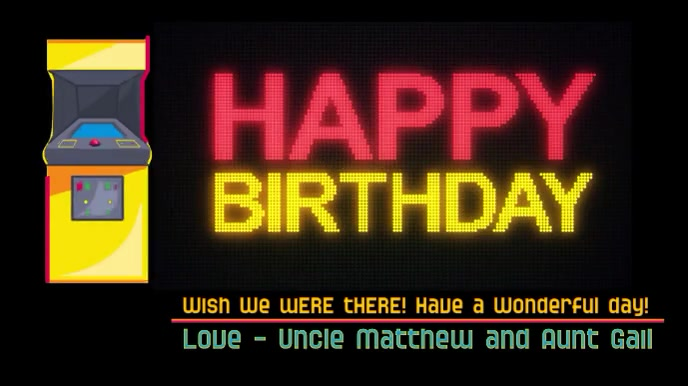 Happy Birthday Video Game Lover Template Postermywall