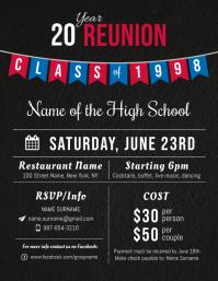 1 730 High School Reunion Flyer Customizable Design