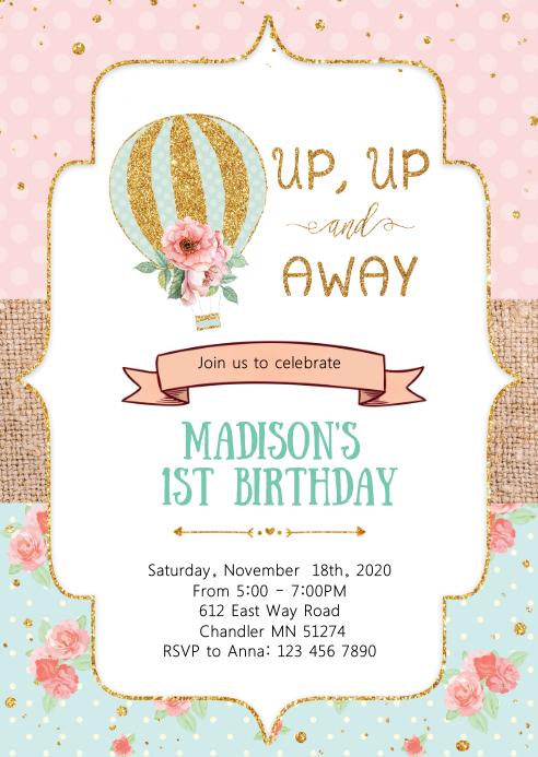 hot air balloon birthday party