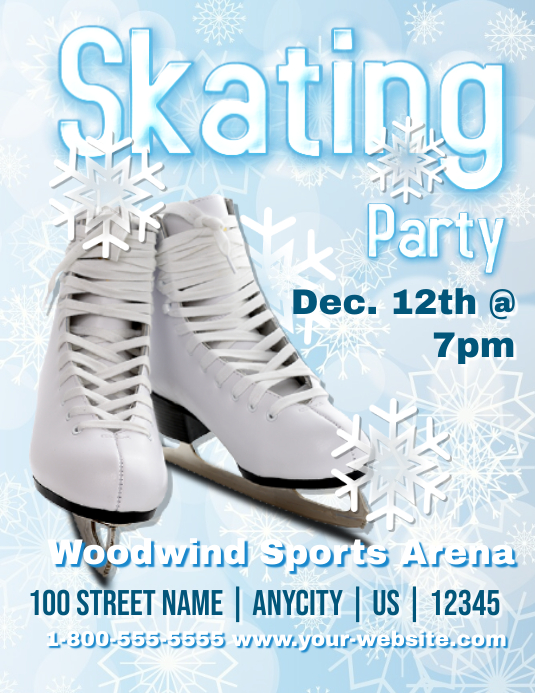 ice skating party template postermywall