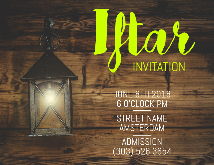 Copy Of Iftar Invitation Flyer PosterMyWall