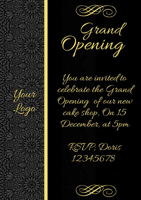 copy of invitation grand opening