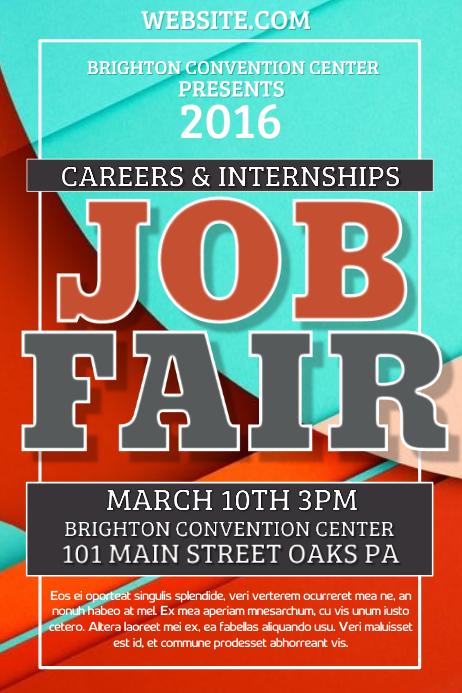 Copy Of Job Fair PosterMyWall