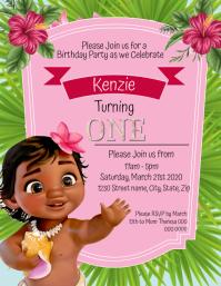 princess 1st birthday invitation