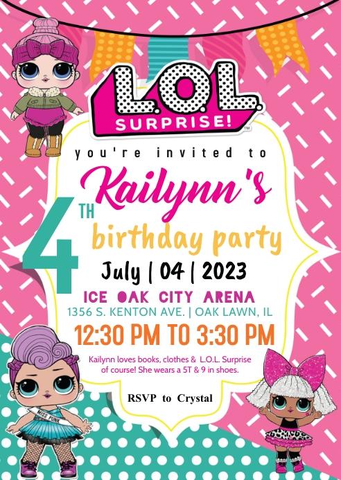 l o l surprise invitation template