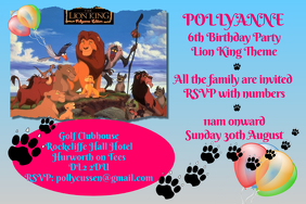 lion king party invitation template