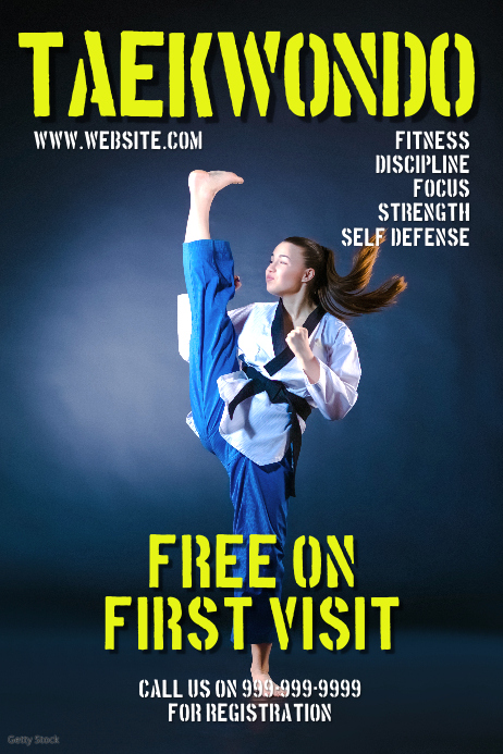 martial arts poster template postermywall