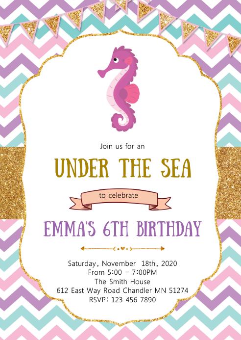 mermaid under the sea birthday