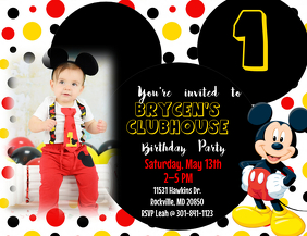 13 490 Mickey Mouse Birthday Invite Customizable Design Templates Postermywall