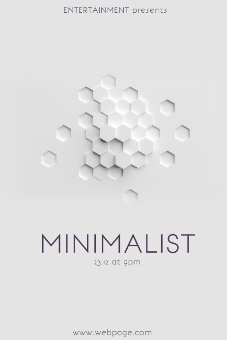 Minimalist Flyer Template PosterMyWall