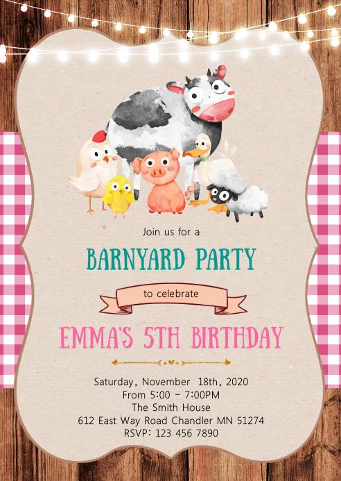 Streichelzoo Geburtstagsfeier Einladungsbroschure Vorlage Postermywall