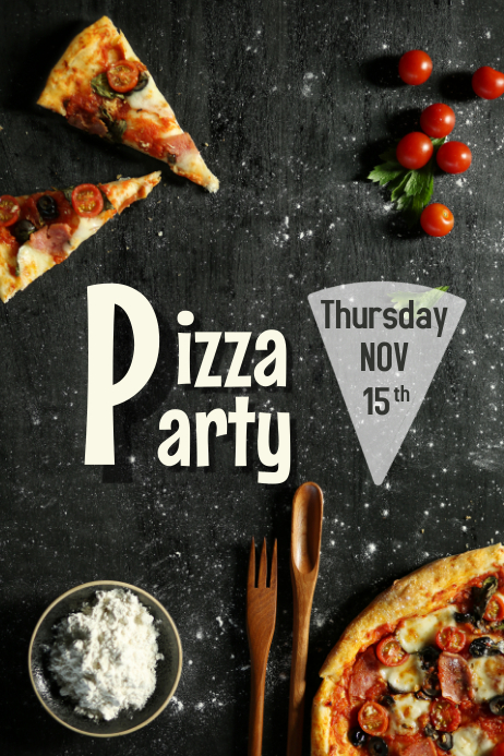 Copy Of Pizza Party Flyer Postermywall
