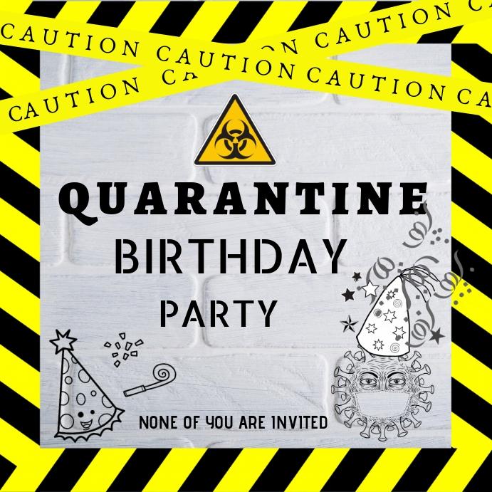 quarantine birthday card template