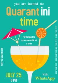 quarantine party invite template