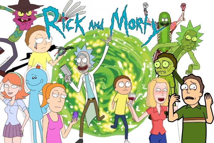 Rick Morty Geburtstagsfeier Thema Gurke Vorlage Postermywall