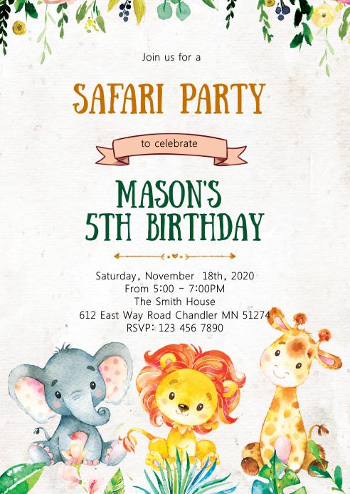 safari geburtstagsfeier