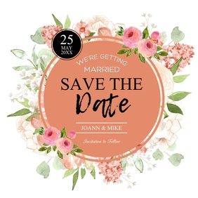 save the date customizable design
